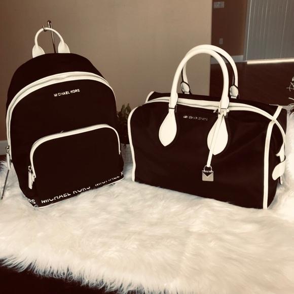 49598a39dec2f4 Michael Kors Bags | Connie Backpack Duffle Bag Set | Poshmark